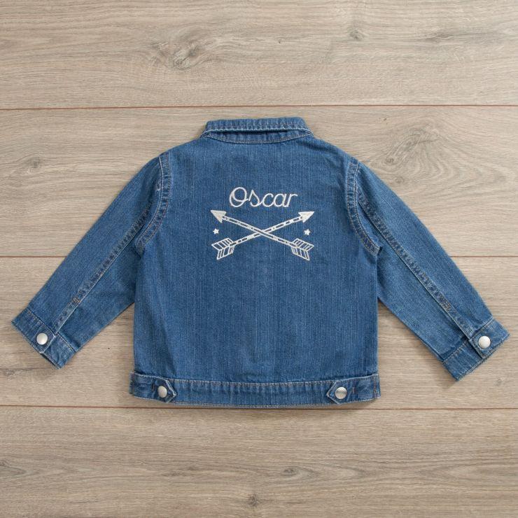 Personalised Tribal Design Denim Jacket