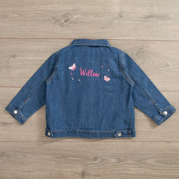 Personalised Butterfly Design Denim Jacket