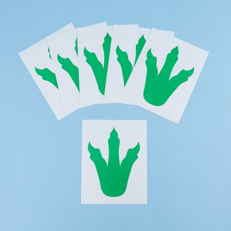 Ginger Ray Dinosaur Footprint Stickers