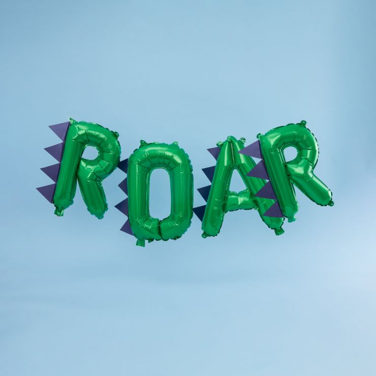 Ginger Ray Dinosaur Party ROAR Balloon Bunting