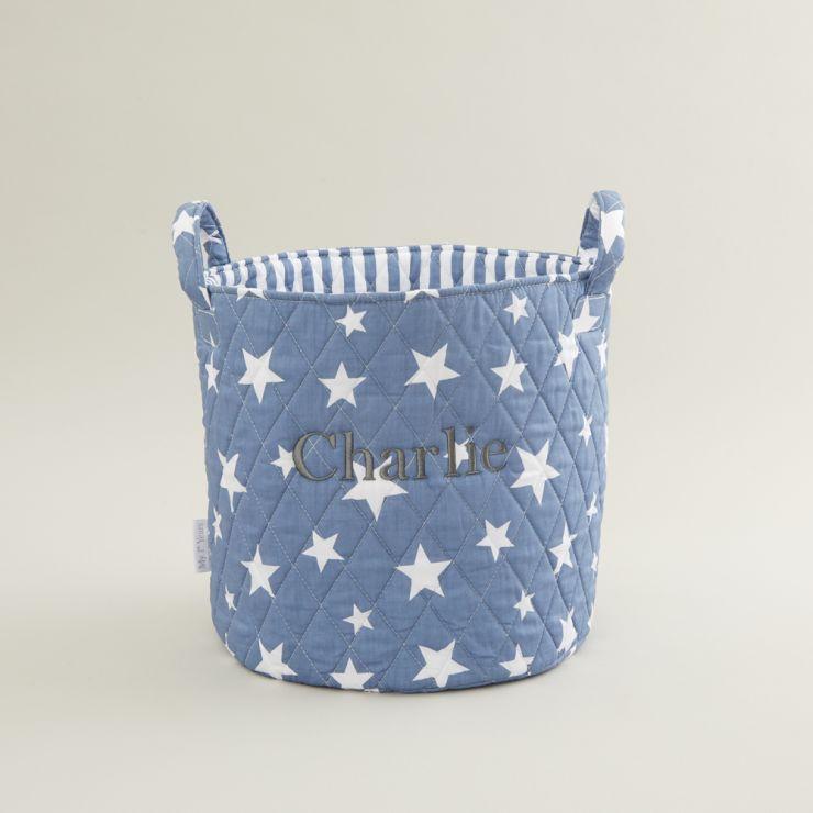 Personalised Medium Blue Star Storage Bag