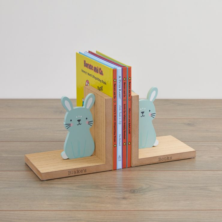 Personalised Bunny Bookends