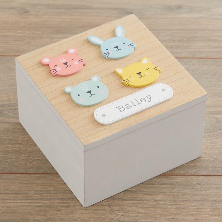 Personalised Furry Friends Keepsake Box