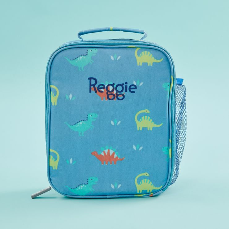 Personalised Dinosaur Print Lunch Bag