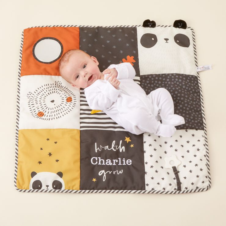 Personalised Panda and Bear Patchwork Activity Playmat