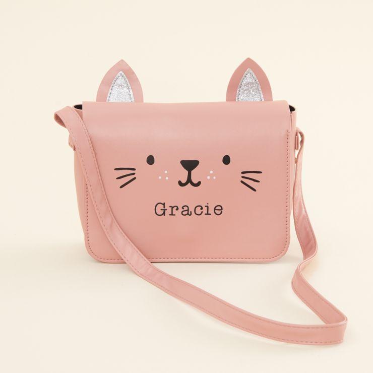 Personalised Pink Cat Toddler Handbag