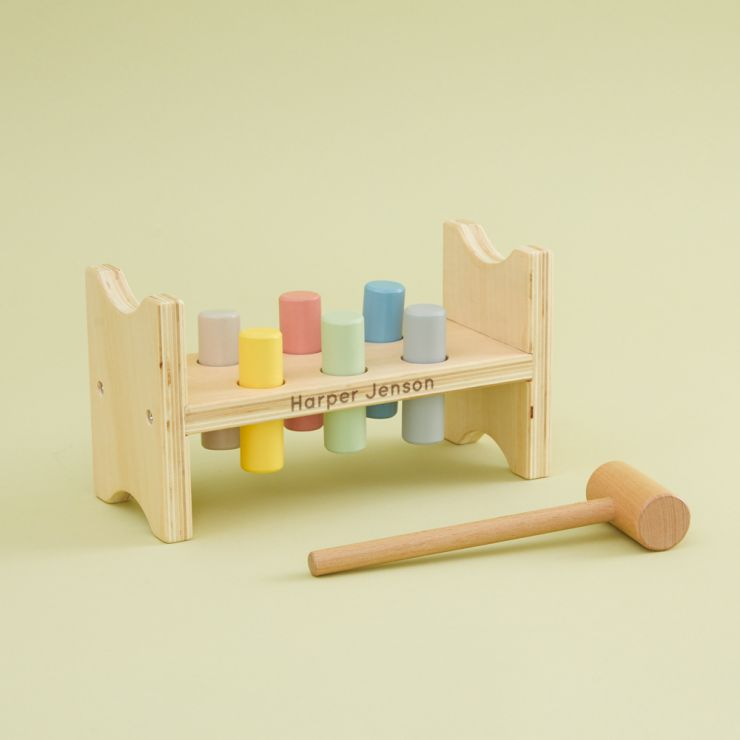Personalised Wooden Hammer Bench Toy
