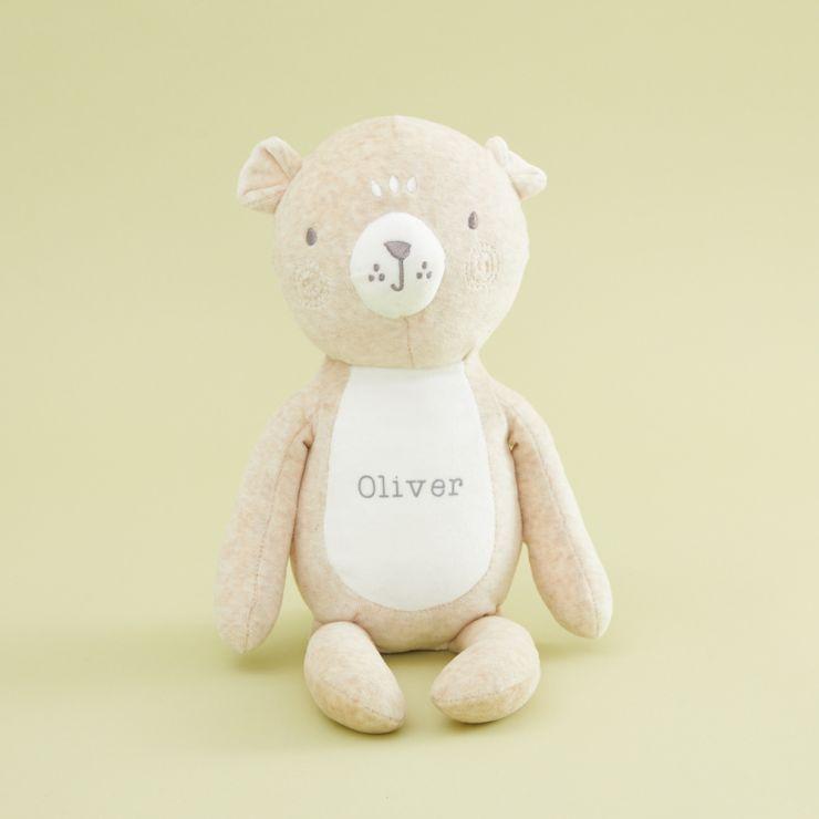 Personalised Cream Bear Soft Toy