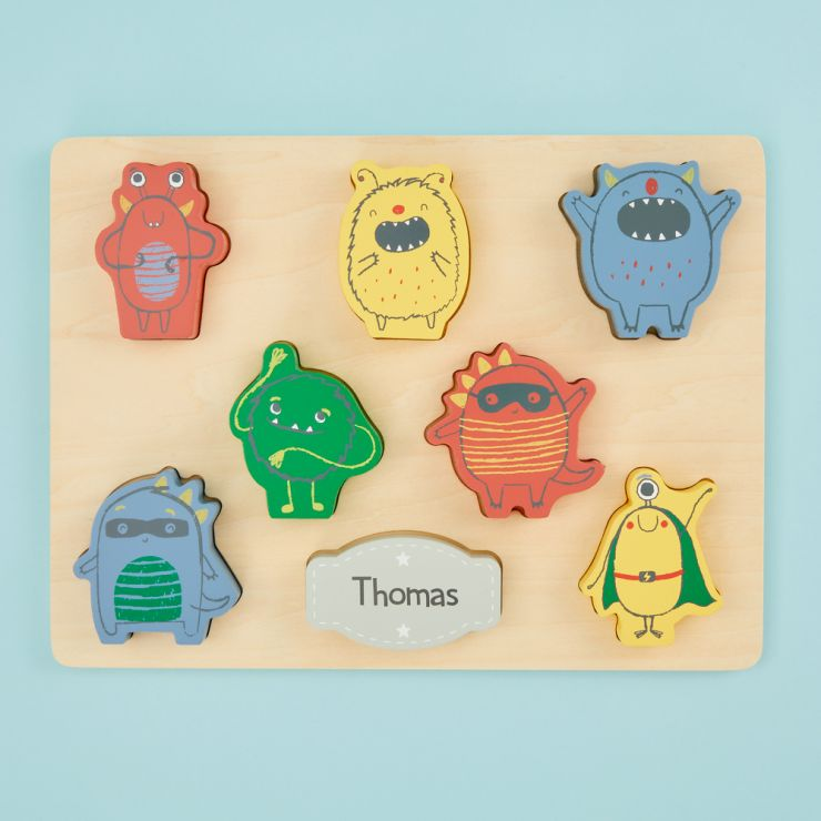 Personalised Wooden Monster Puzzle