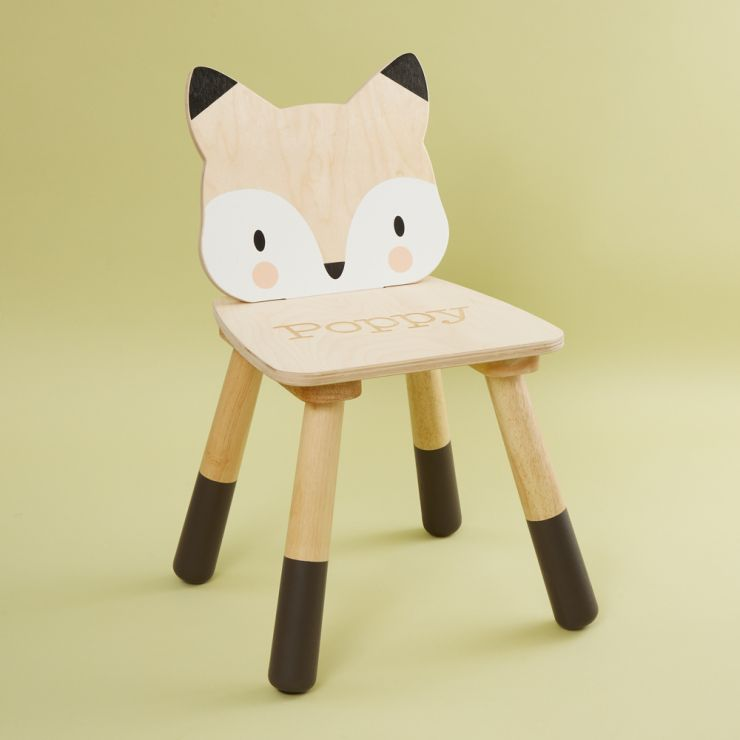 Personalised Fox Design Children's Chair