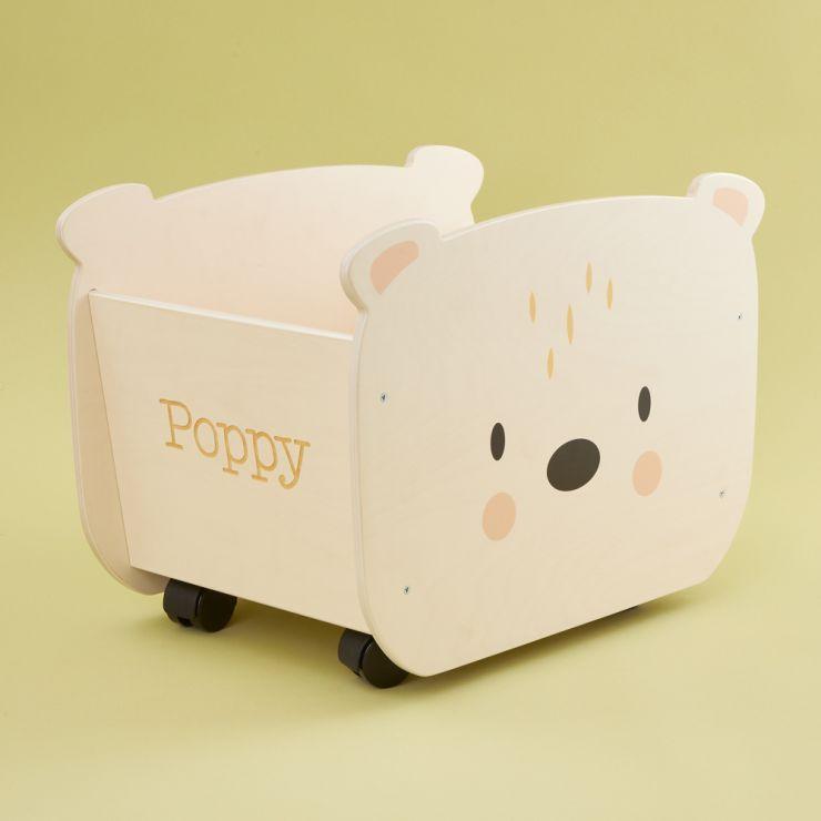 Personalised Bear Pull-a-long Storage Box