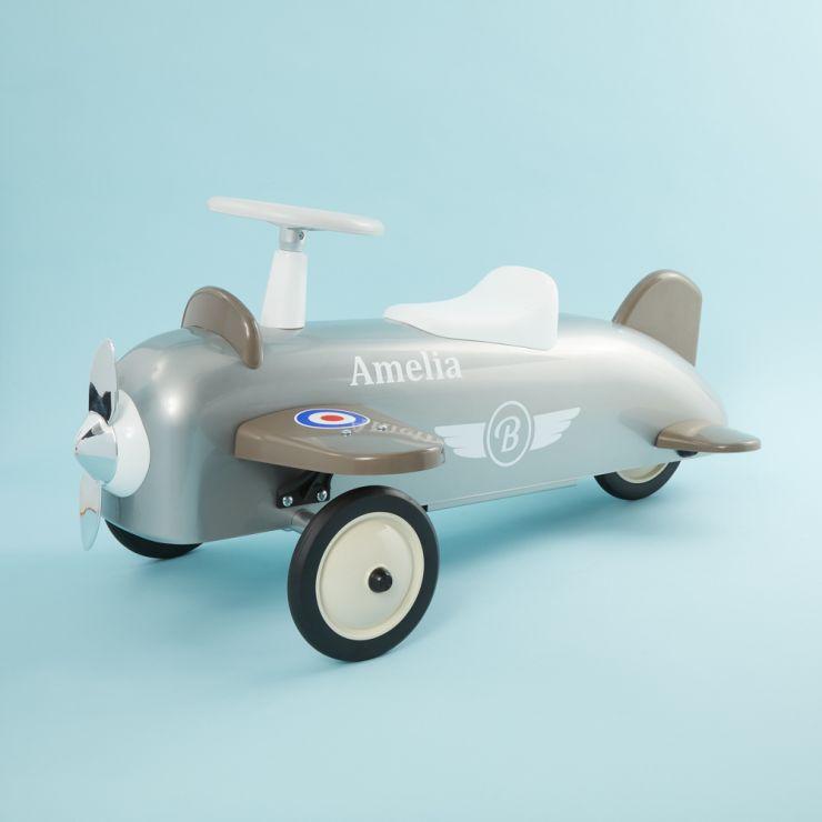 Personalised Silver Ride On Aeroplane
