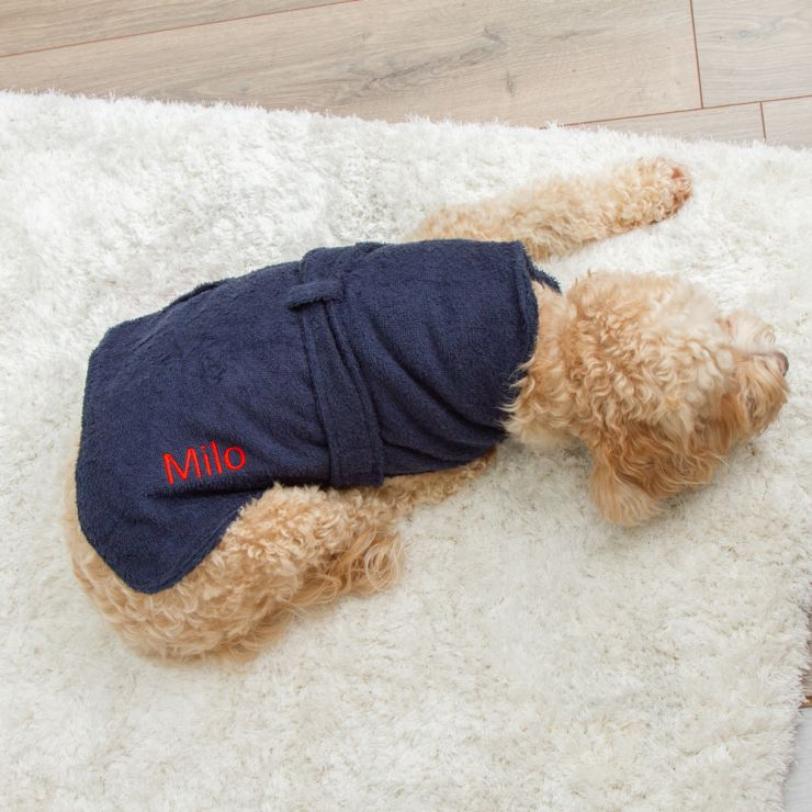 Personalised Dog Drying Robe