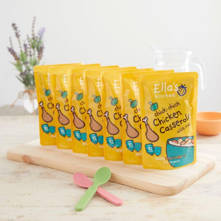 Ella's Kitchen Organic Chicken & Rice Casserole Pouch 190g (10m+) Pack of 5