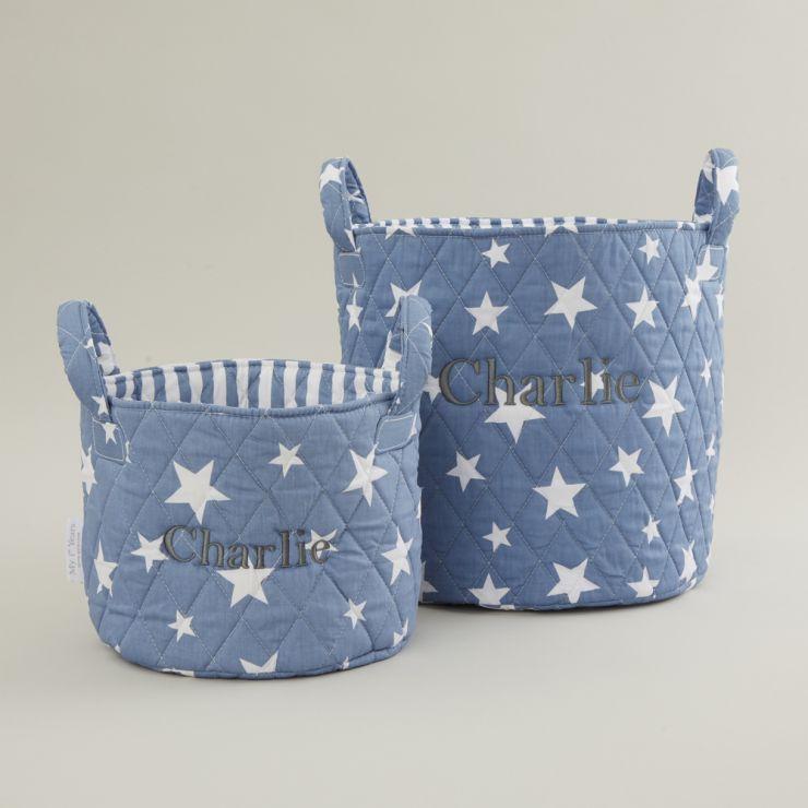 Personalised Blue Star Storage Bag Gift Set