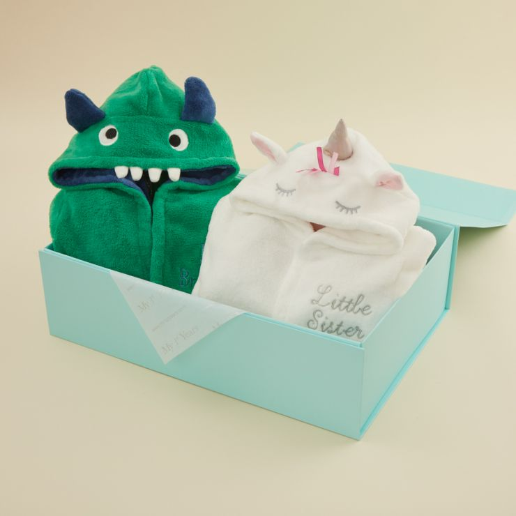 Personalised Unicorn & Monster Sibling Gift Set