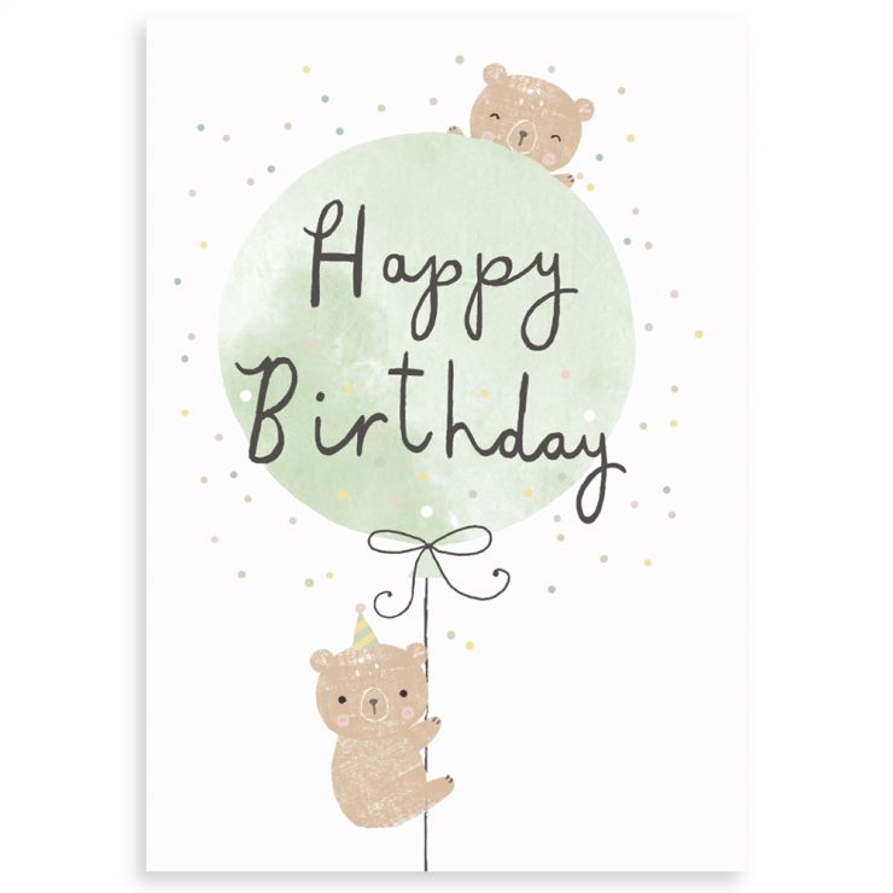 Personalised Bear Design Birthday Greetings Card