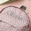 Personalised Pink Leopard Print Mini Backpack