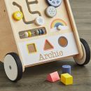 Personalised Wooden Push Along Activity Walker- Personalisation