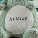 Personalised Green Knitted Dragon Soft Toy - Personalisation