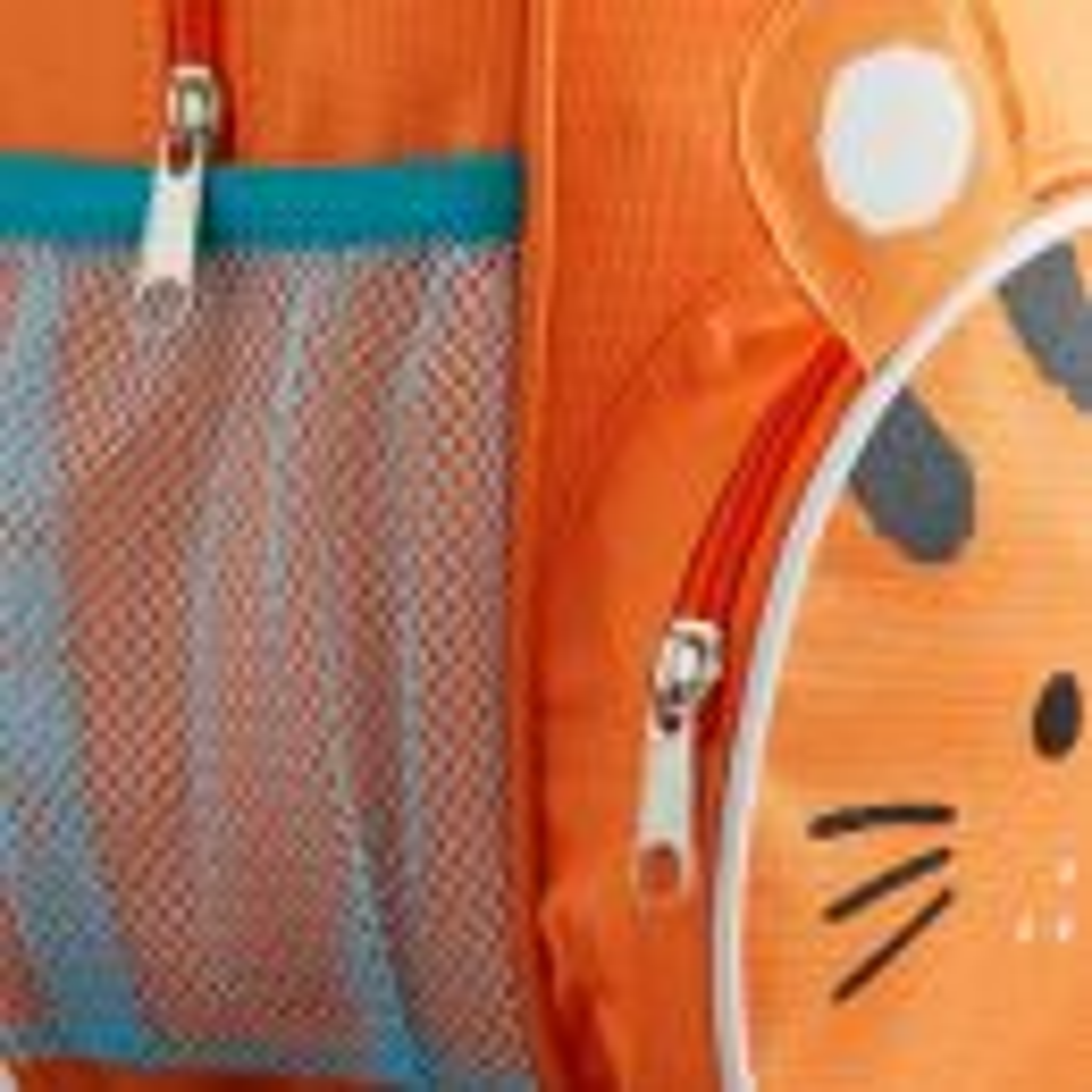 Personalised Tiger Mini Backpack Zip Detail