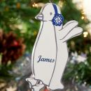 Personalised Wooden Penguin Decoration