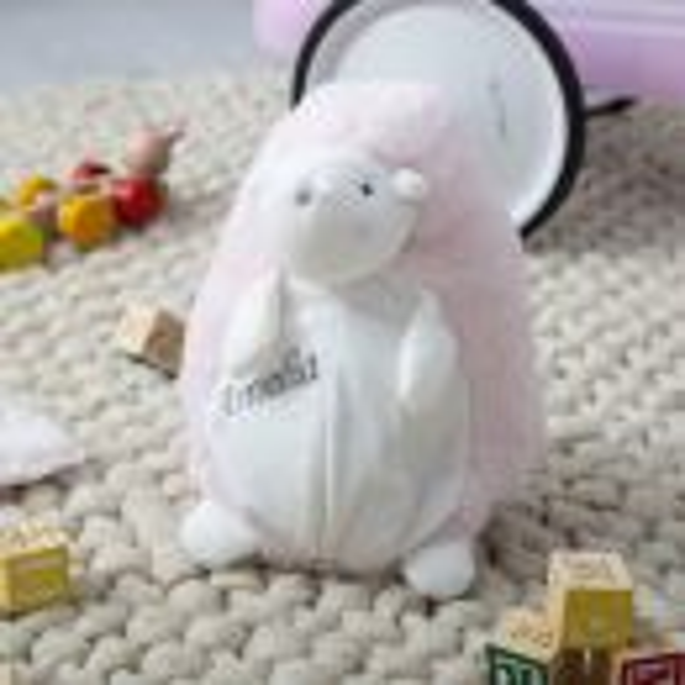 Personalised Pink Medium Hedgehog Soft Toy