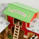 Personalised Wooden Cobblestone Farm with Animals Set - Personalisation