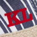 Monogrammed Blue and White Striped Espadrilles