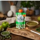 Piccolo Organic Pear, Apple & Spring Greens with hint of mint 100g Pouch (4 Months+)