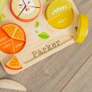 Personalised Tenderleaf Wooden Citrus Fraction Puzzle Toy Personalisation