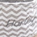 Personalised Small Grey Chevron Print Storage Bag Personalisation