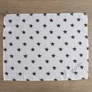 Personalised Pack of 3 Monochrome Star Print Muslin Swaddle Blankets