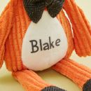 Personalised Mr Fox Textured Soft Toy Personalisation