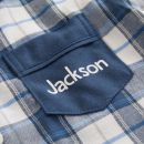 Personalised Traditional Navy Check Pyjamas Personalisation