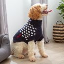 Personalised Spot Intarsia Knitted Pet Jumper Navy
