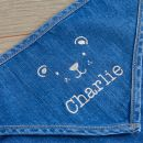 Personalised Bear Design Denim Bandana Bibs (2pk) Personalisation